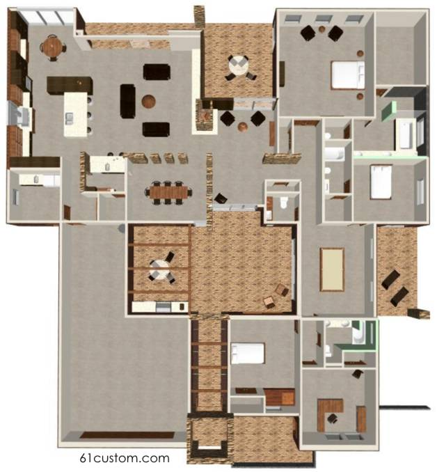 Courtyard House Plan  Modern Courtyard House Plans for Arizona